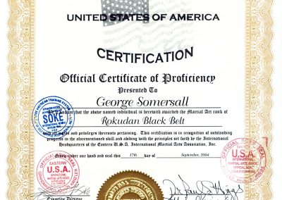 6 Grand Master George Somersall - USA Black Belt Certification
